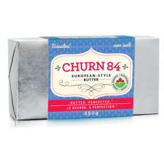 Churn 84 Organic European Style Butter, Unsalted