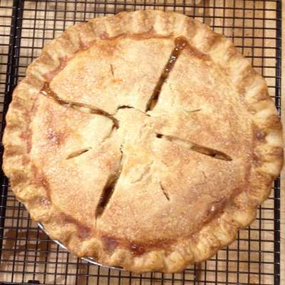 Amazing Gluten Free Bourbon Apple Pie