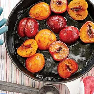 Bourbon-Soaked Plums