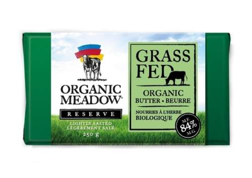 Organic Meadow Grass Fed 84% MF Butter, Lightly Salted